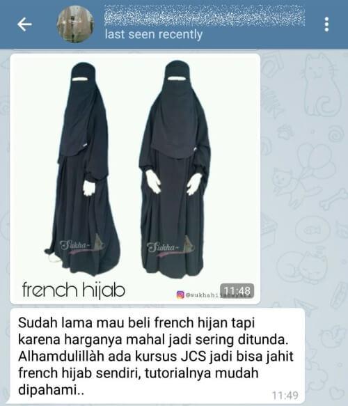 Cara Membuat Cadar Dengan Kerudung Segi Empat Baju Muslim